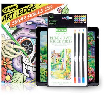Art with Edge Sugar Skulls Coloring Set