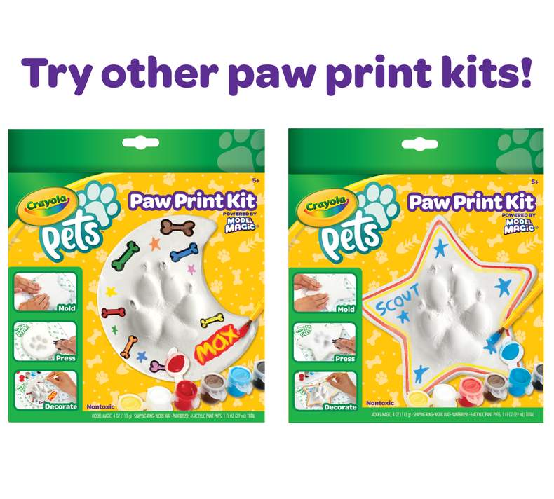 Crayola Pets Paw Prints Keepsake Kit, Circle