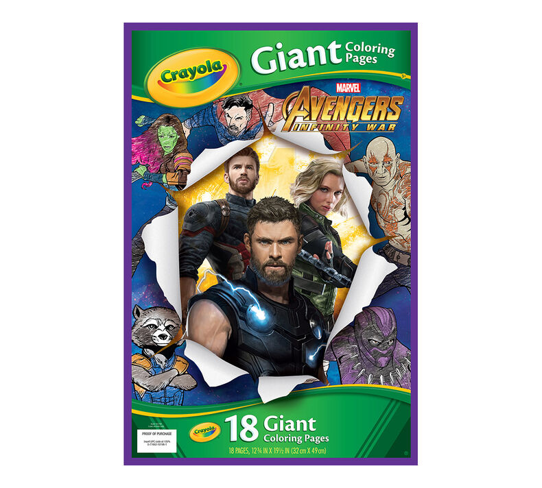 Giant Coloring Page - Avengers