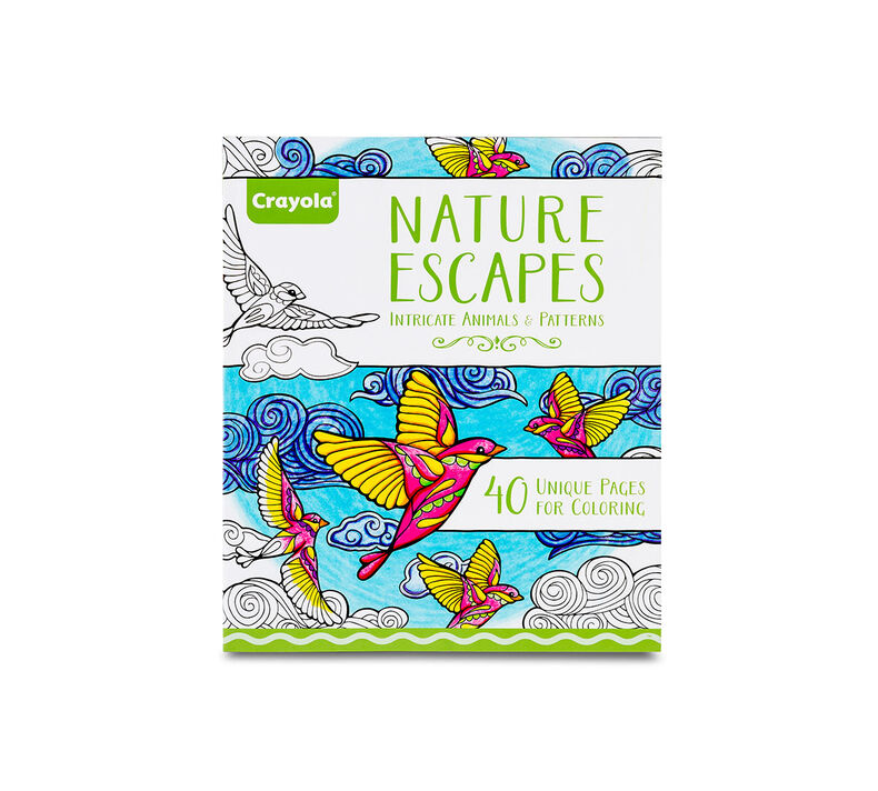 Crayola Nature Escapes Adult Coloring Art Activity 40 Pages
