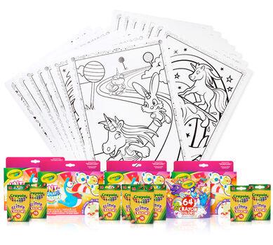 Unicorn Party Activities & Kids Glitter Party Favors Set