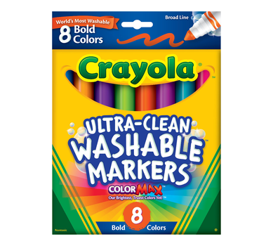Ultra-Clean Markers, Broad Line, Bold 8 Count