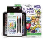 Lennon & McCartney Adult Coloring Kit, Brush & Detail Markers Gift Set