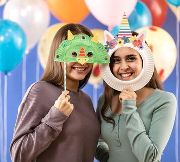 Unicorn Paper Plate Mask Craft Kit