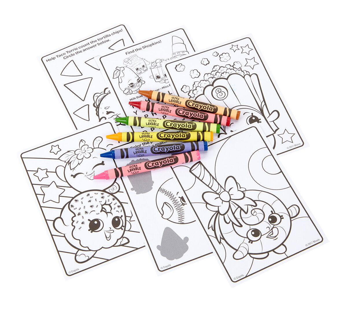 Shopkins Coloring Travel Kit For Kids Crayola Com Crayola