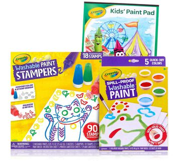 3 in 1 Less Mess Washable Paint Set