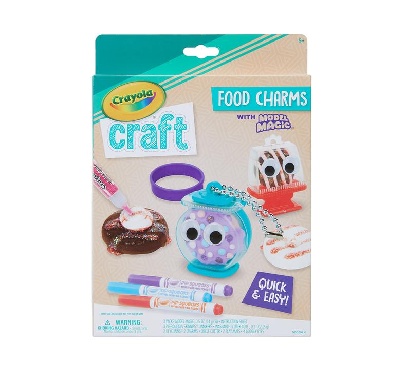 Crayola Craft Food Charms Craft Kit
