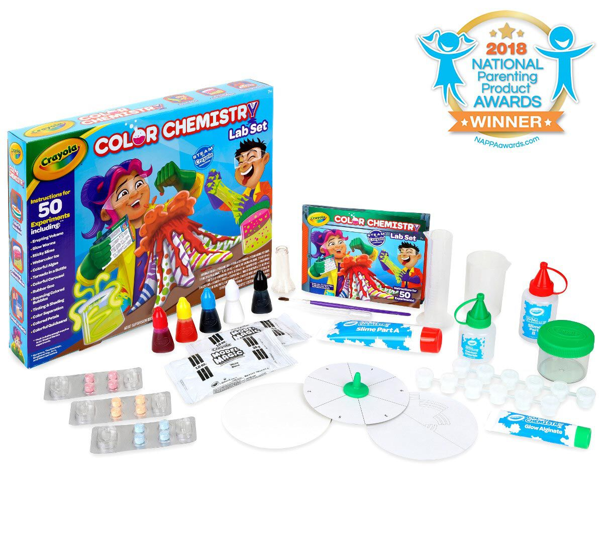 crayola color chemistry set for kids over 50 steam stem activities