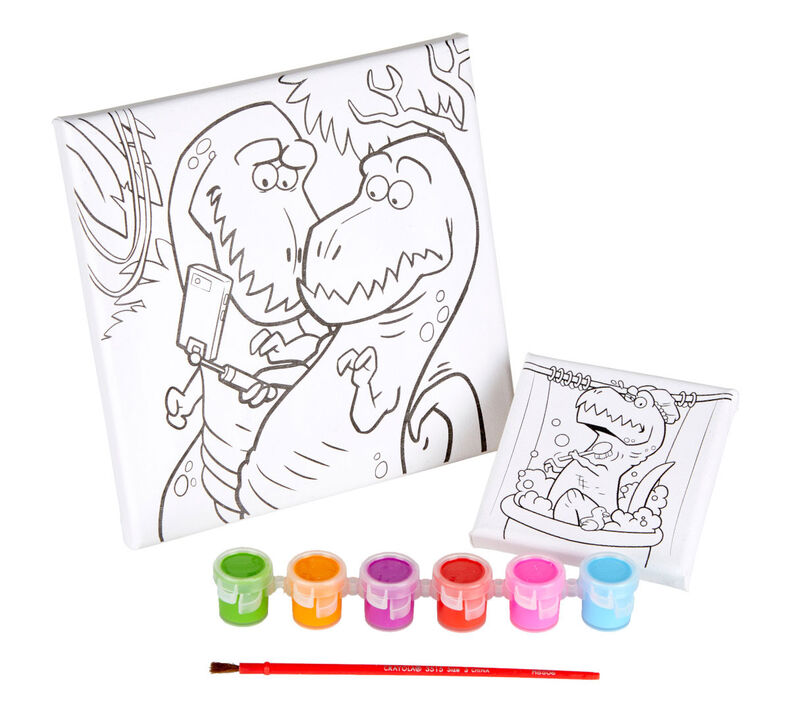 Trex Dinosaur Canvas Paint Set