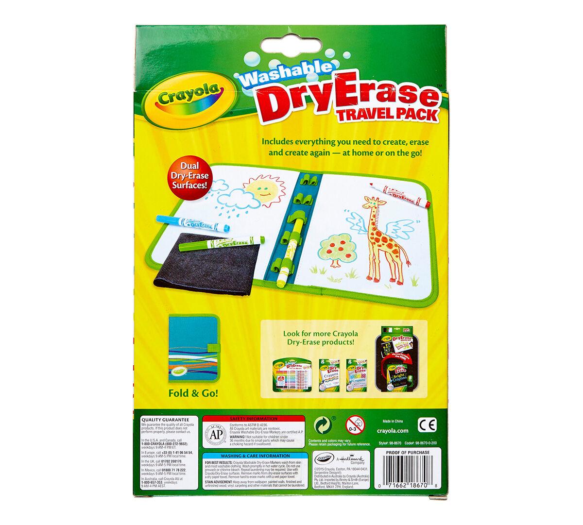 dry erase travel pack with dry erase pipsqueak markers crayola