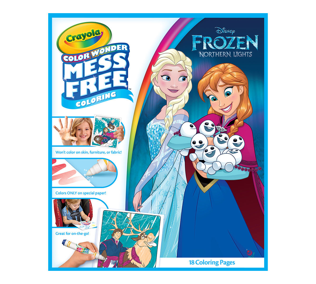 Color Wonder Mess Free Coloring Pad & Markers, Frozen Crayola