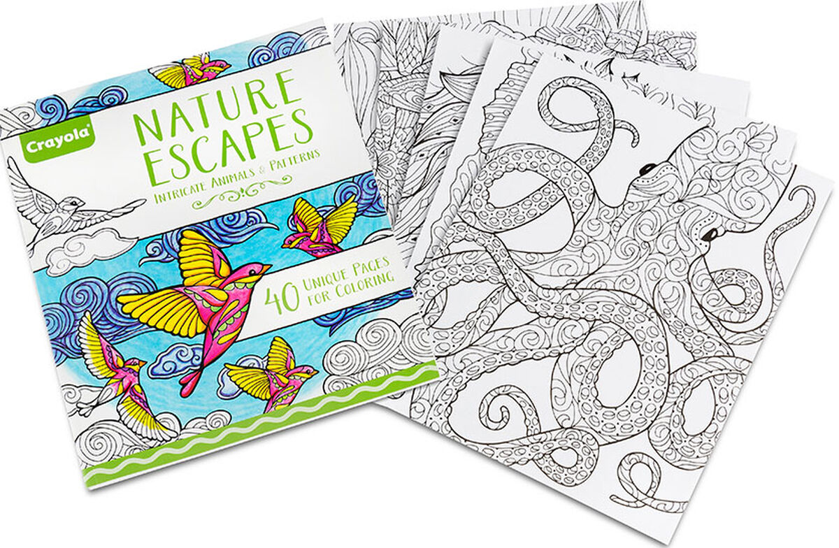 Crayola Nature Escapes, Adult Coloring Art Activity, 40 Pages ...