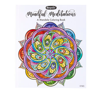 Mandala Coloring Book Front View