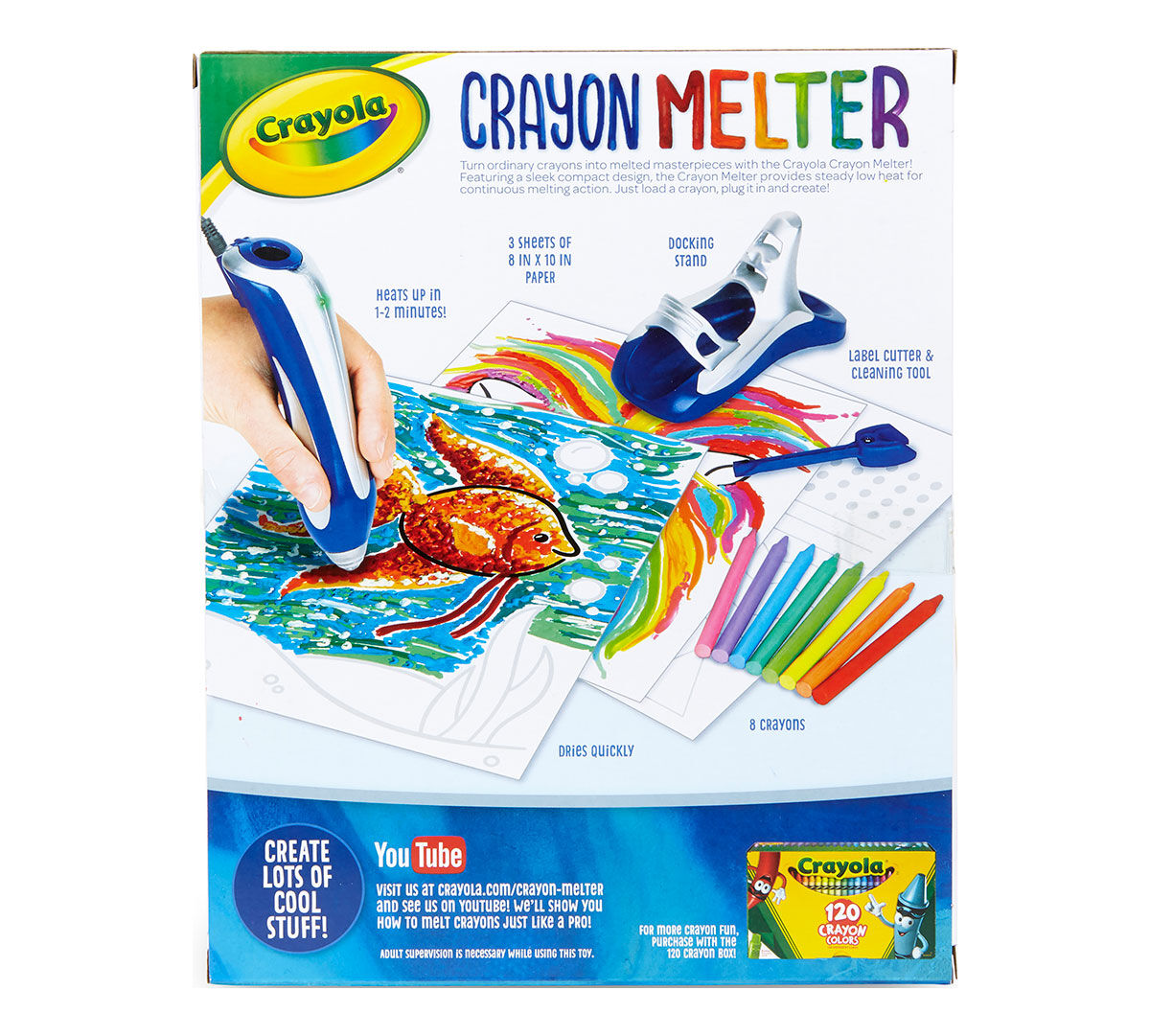 Crayola Crayon Melter, Create Art With Melted Crayons, 1 Crayon ...