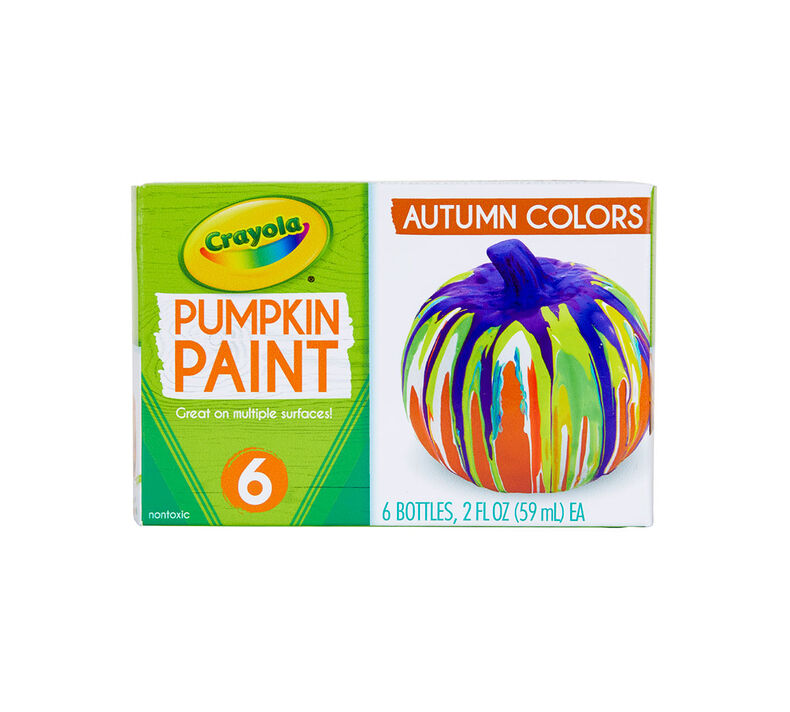 Acrylic Pumpkin Painting Set, Autumn Colors