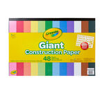 Giant Construction Paper with Stencils, 48 Count Front View