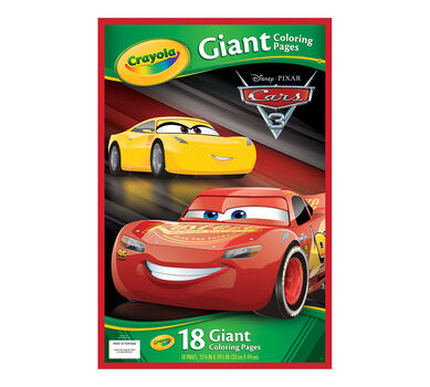 Crayola Giant Coloring Pages Cars 3 Oversized Coloring Pages Art