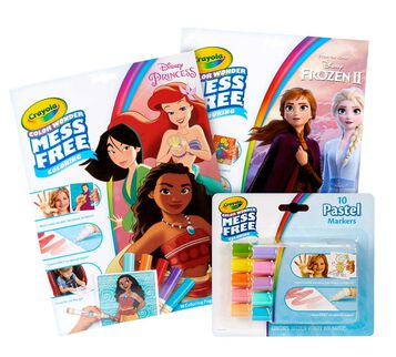 Color Wonder Mess Free Princess & Frozen 2 Coloring Set