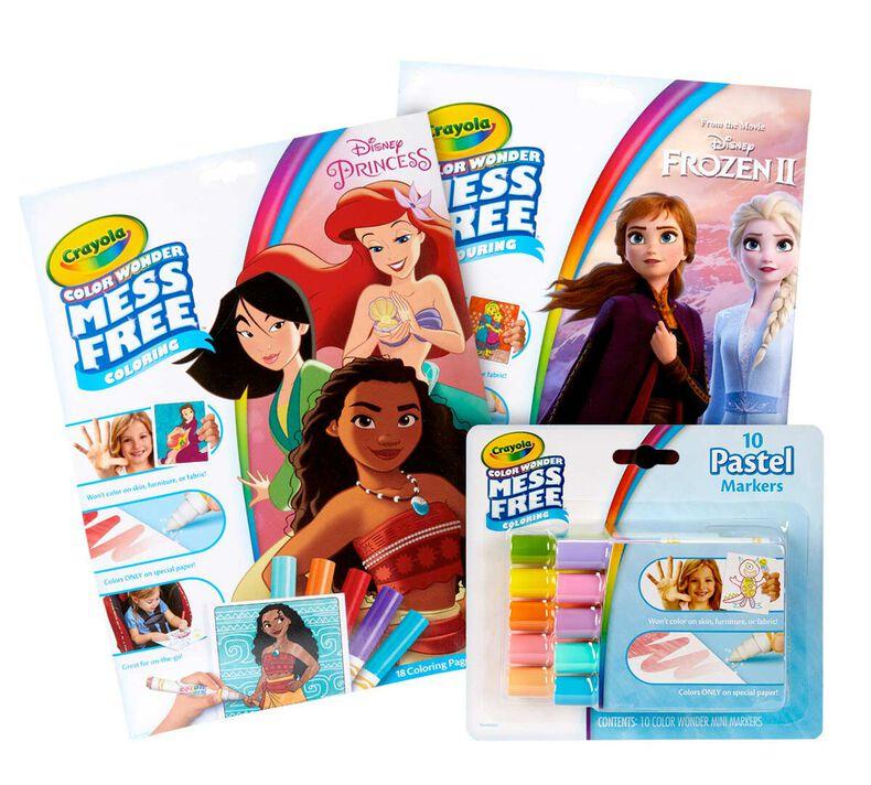 Color Wonder Mess Free Princess & Frozen 2 Coloring Set
