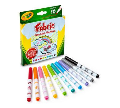 Fine Line Fabric Markers, 10 ct. - Crayola