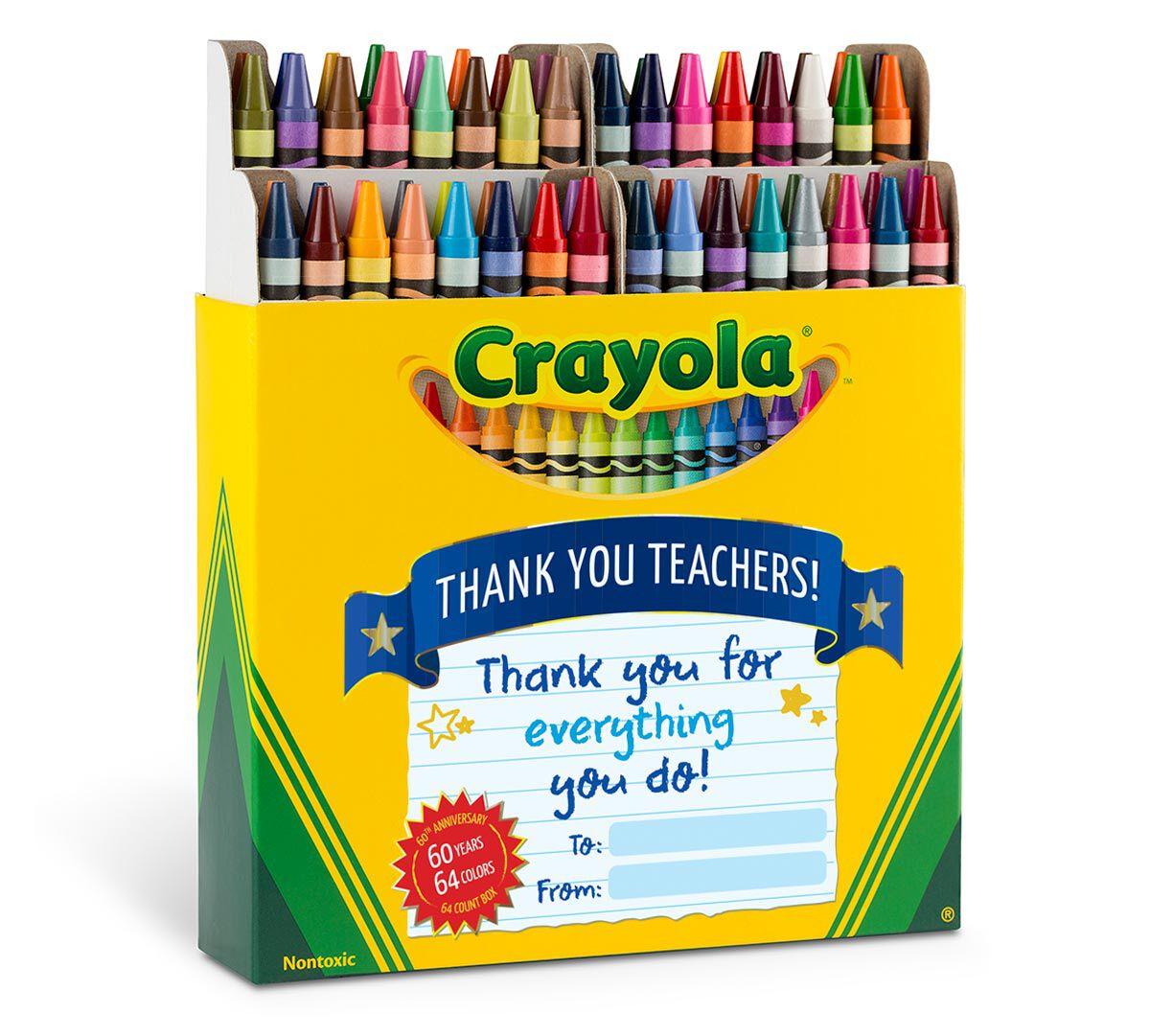 Thank a Teacher 64 Count Crayons | Crayola com | Crayola