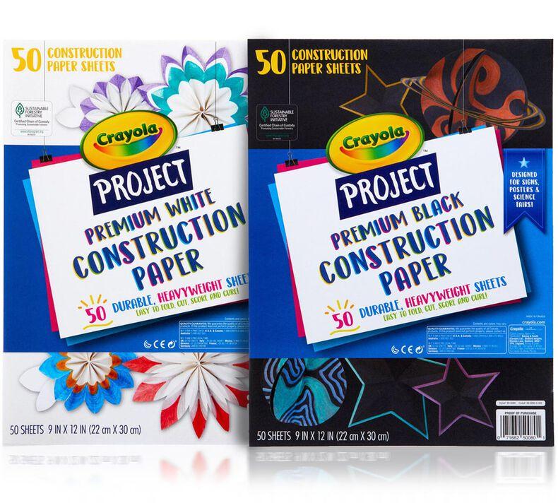 Premium Construction Paper, 50 Sheets, Choose Your Color