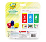 My First Washable Palm Grasp Crayons 3 count Crayons and packaging