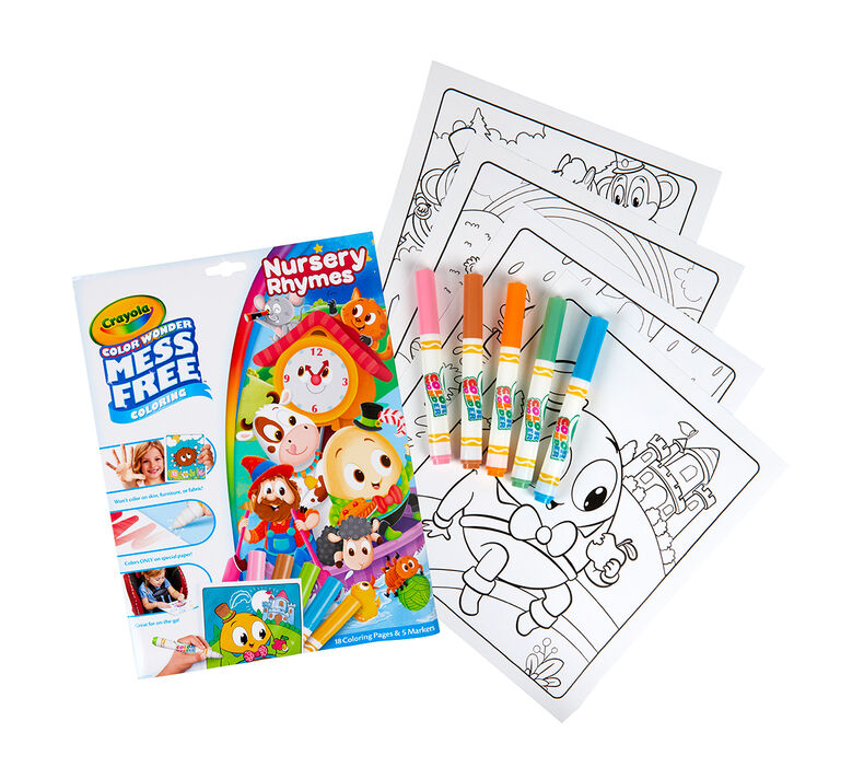 Color Wonder Mess Free Nursery Rhymes Coloring Pages & Markers