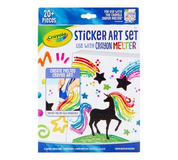 Crayon Melter Sticker Art Set front view