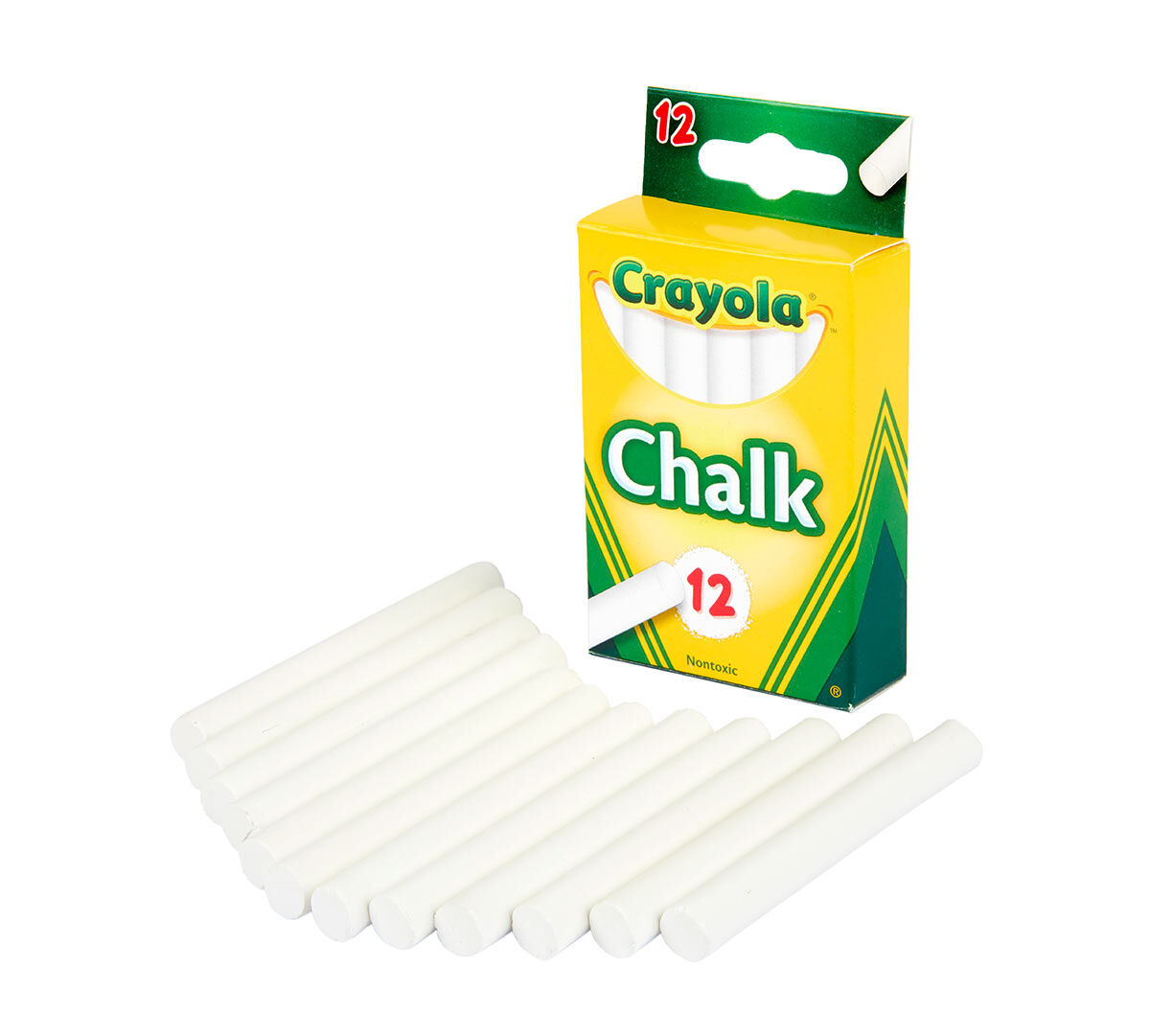 Pack Of 36 Crayola White Chalk 12 Ea