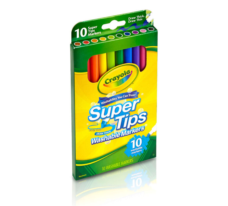 Washable Super Tips Markers, 10 Count