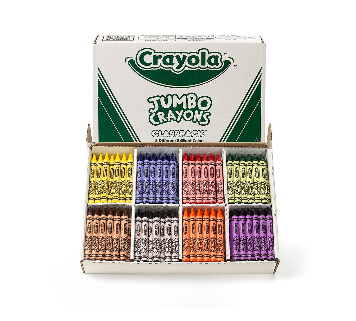 Crayola Jumbo Crayons, 200 Count, 8 Colors