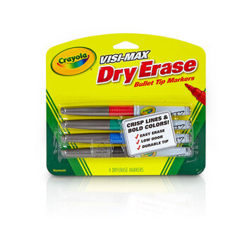 Visi-Max Dry-Erase Markers, Fine Line, 4 ct.