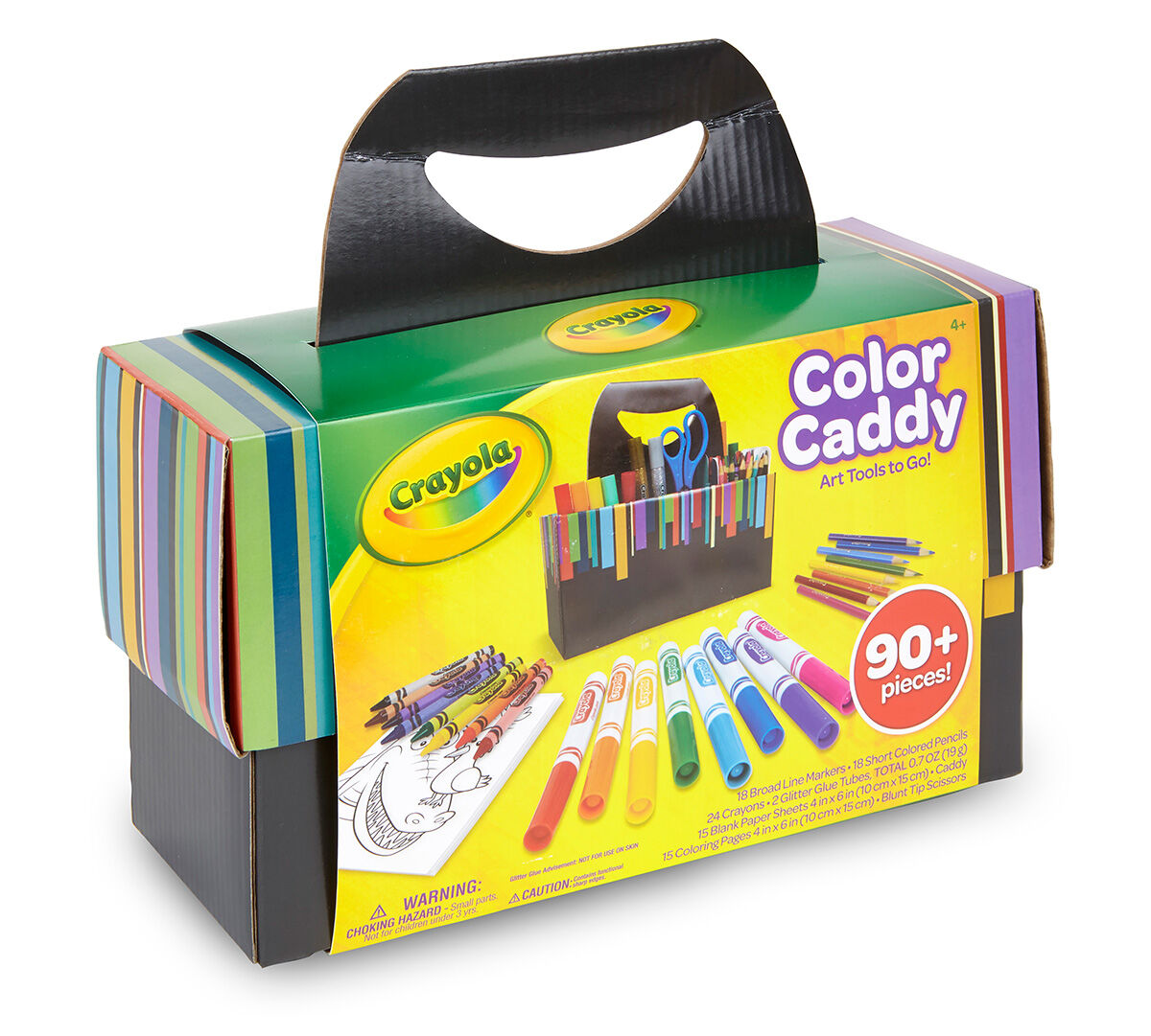 Crayola Color Caddy, Coloring Set and Storage, 18 Markers, 24 ...