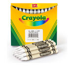 White Bulk Crayons, 12 Count
