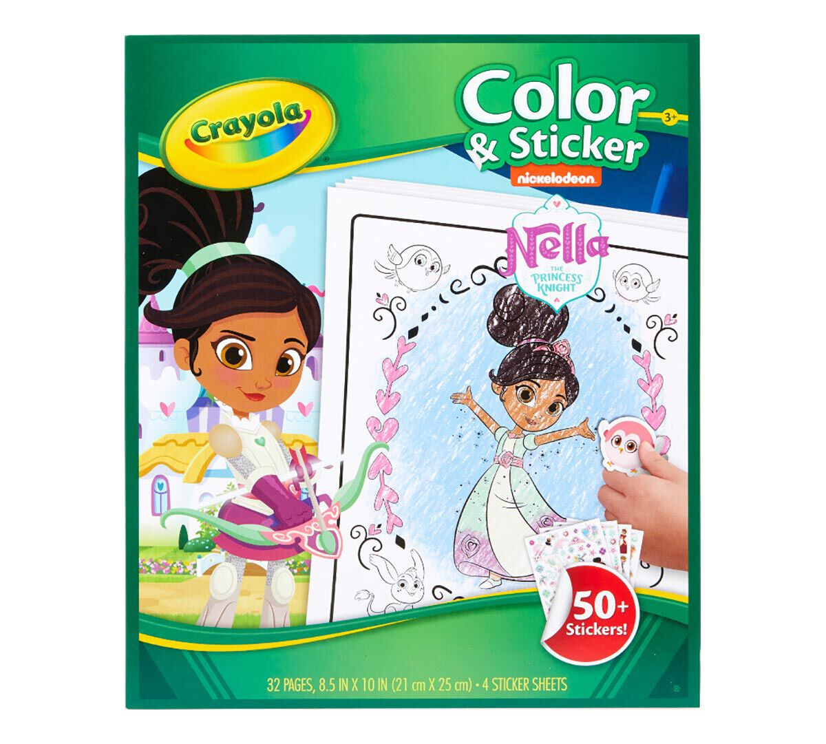 Crayola Coloring Pages and Stickers, Nella The Princess Knight, Gift for  Girls, Ages 3, 4, 5, 6 | Crayola