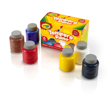 Tempera Paint 6 count 2 ounce bottles