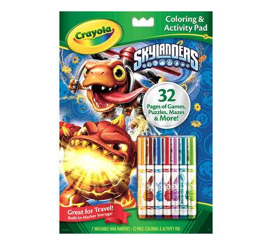 coloring activity pad with markers skylanders crayola
