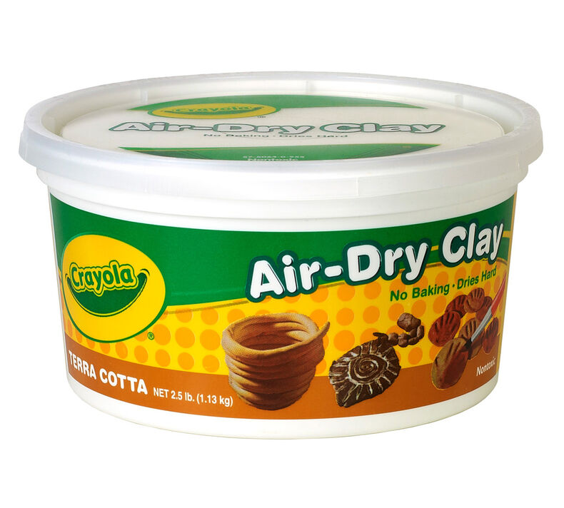 Terra Cotta Air Dry Clay, 2.5 lb Resealable Bucket
