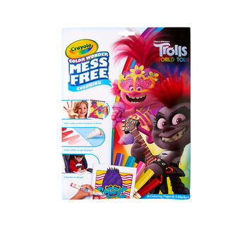 Color Wonder Mess Free Trolls Coloring Pages & Markers