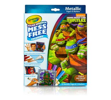 color wonder metallic paper markers teenage mutant ninja turtles