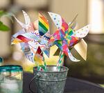 Paper Pinwheels finished craft