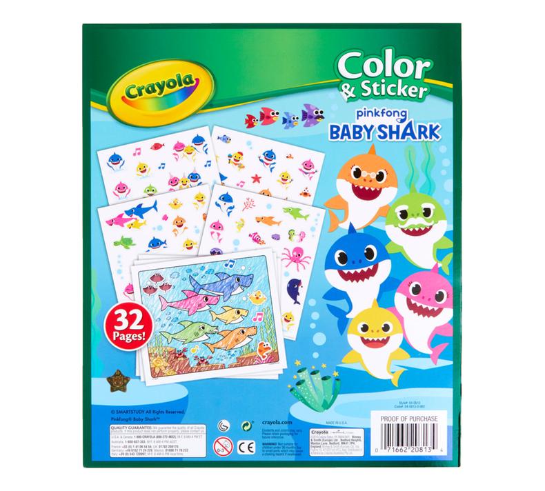 Baby Shark Color & Sticker Book