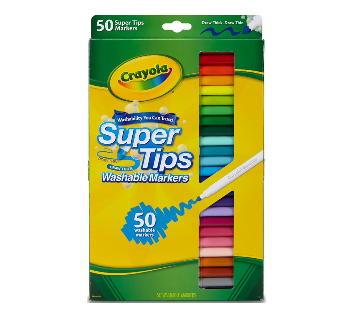 Washable Super Tips Markers 50 Count
