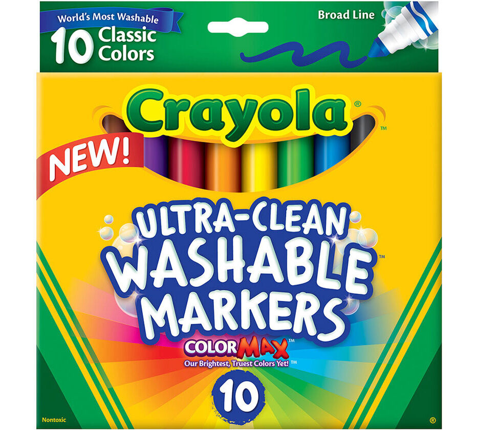 UltraClean Markers Broad Line Classic Colors 10 ct Crayola