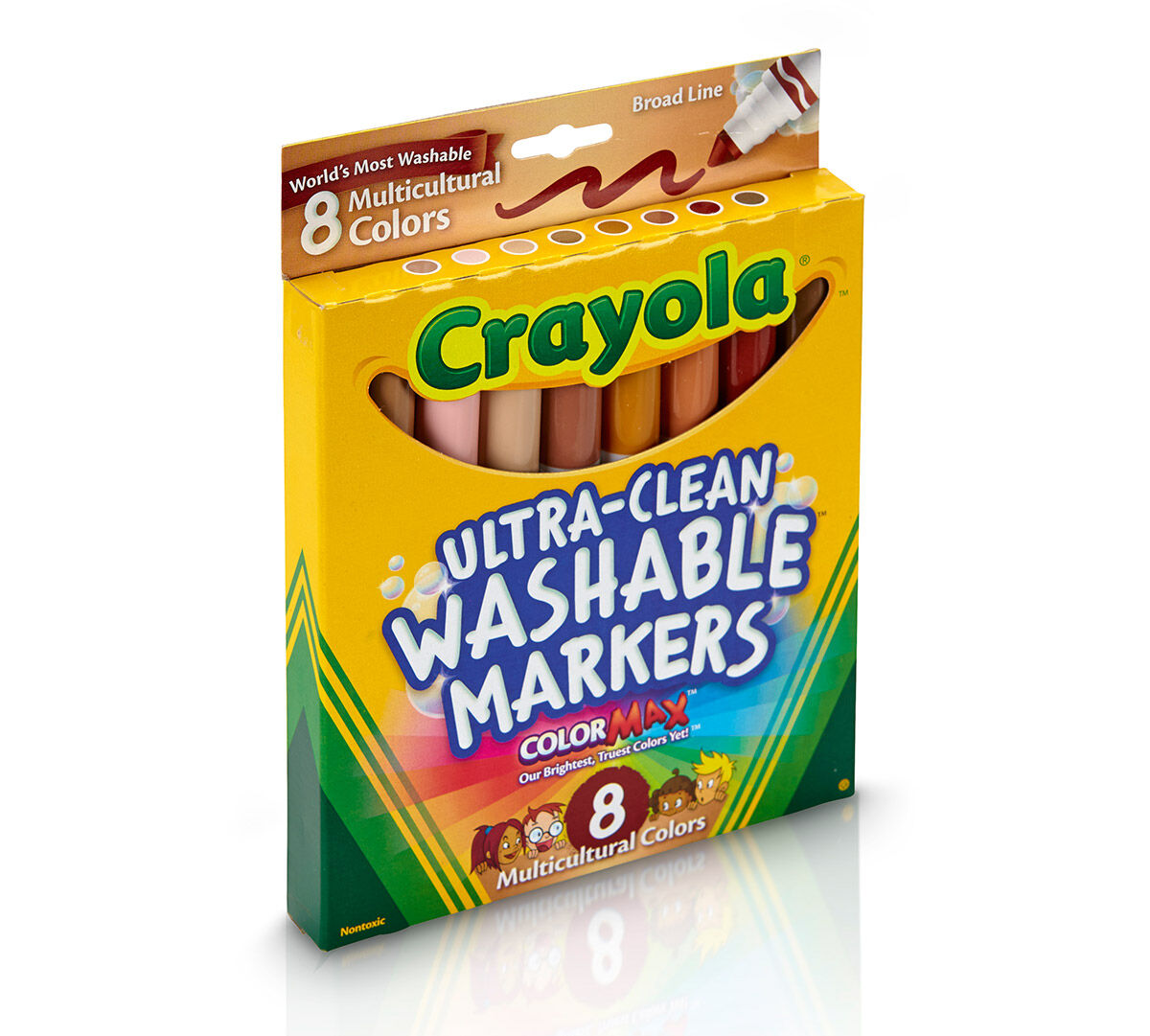 ultra clean markers broad line multicultural 8 ct crayola
