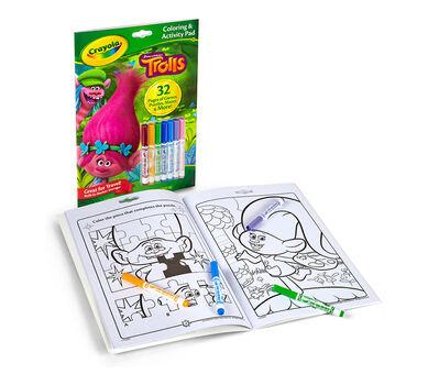 coloring activity book trolls crayola