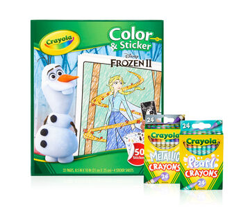 Frozen 2 Color & Sticker Book Set