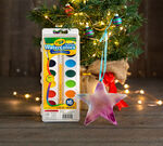 2-in-1 Holiday Ornaments Craft Kit Marbleized Glue Ornament