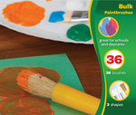 Large Variety Paint Brushes Classpack, 36 Count